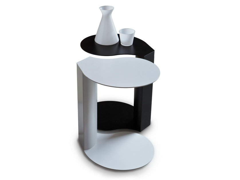 2 Metal side tables 9265 DOMINO by Vibieffe