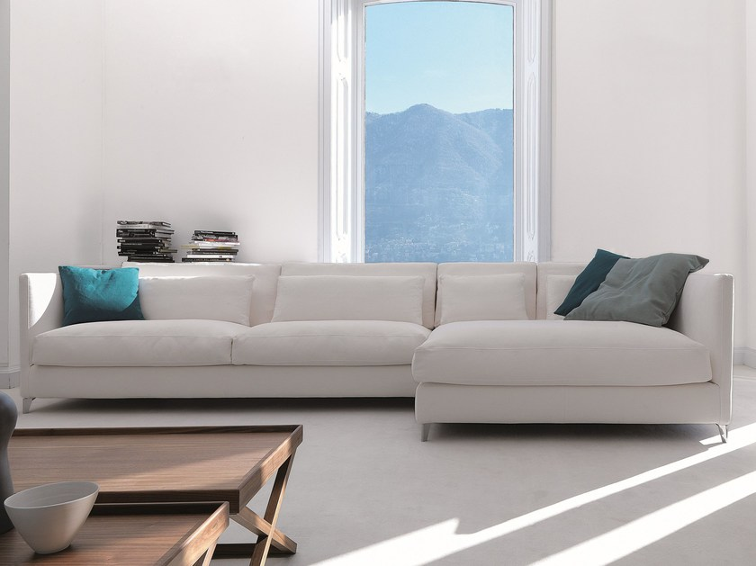 Fabric sofa with chaise longue 930 ZONE SLIM XL | Sofa with chaise longue by Vibieffe