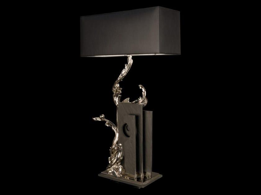 Lampada da tavolo in ardesia 930   Lampada da tavolo by Tisserant