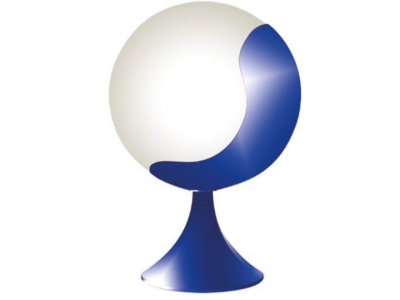 Contemporary style direct light metal table lamp 936 BLE | Table lamp by Jean Perzel