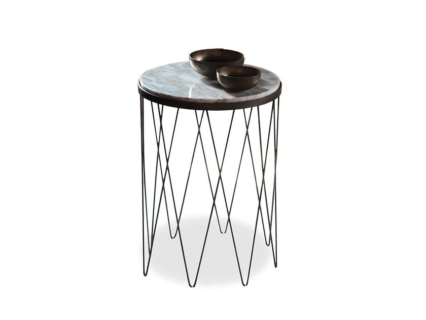 Round marble side table 9500 - 104 by Vibieffe