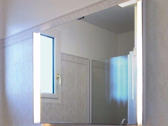 Specchio con illuminazione integrata per bagno 954 | Specchio by Jean Perzel