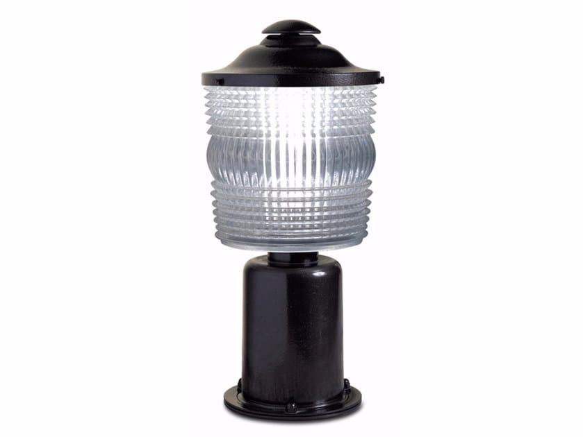 Metal bollard light 955 | Bollard light by Jean Perzel