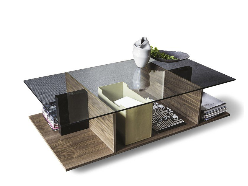 Coffee table with integrated magazine rack 9800 ALA | Coffee table by Vibieffe
