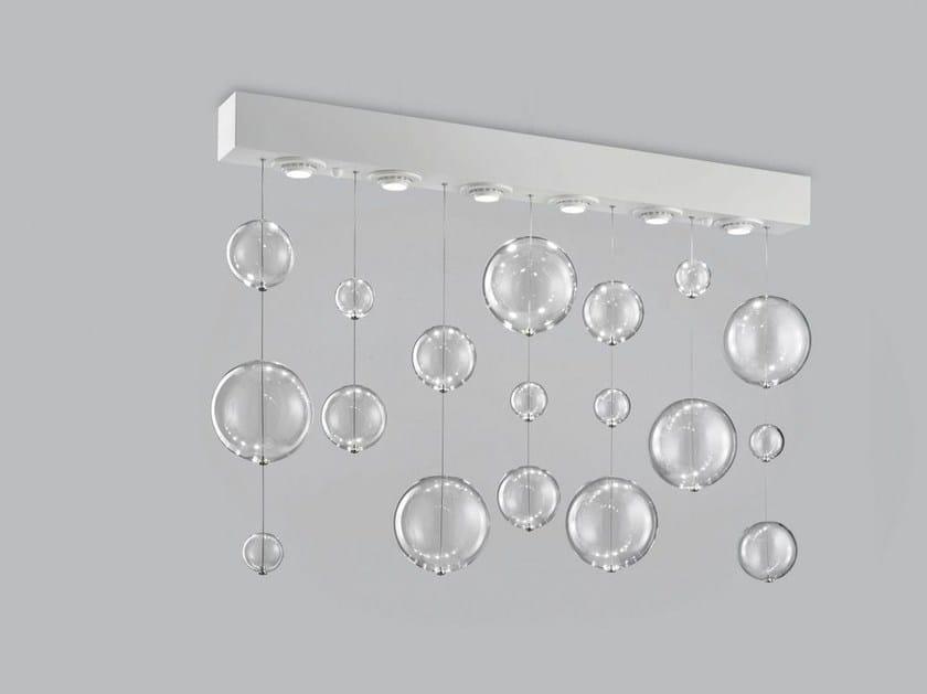 Blown glass ceiling lamp BOLERO 98x9 by Metal Lux