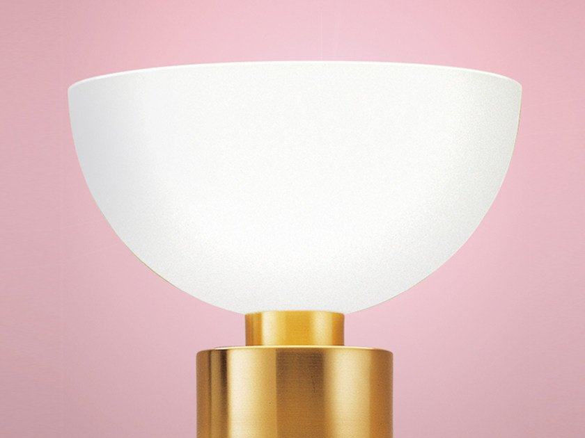 Indirect light glass table lamp 996   Table lamp by Jean Perzel