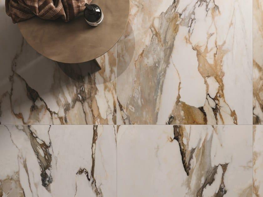 Pavimento/rivestimento in gres porcellanato effetto marmo 9CENTO ALBA ORO by CERAMICHE KEOPE
