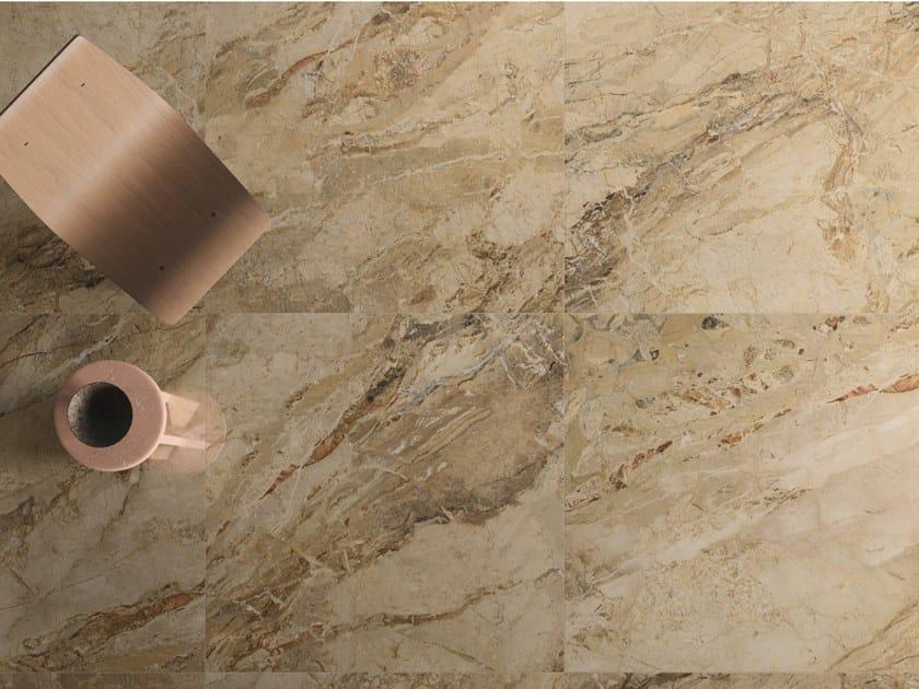 Pavimento/rivestimento in gres porcellanato effetto marmo 9CENTO AURORA BEIGE by CERAMICHE KEOPE