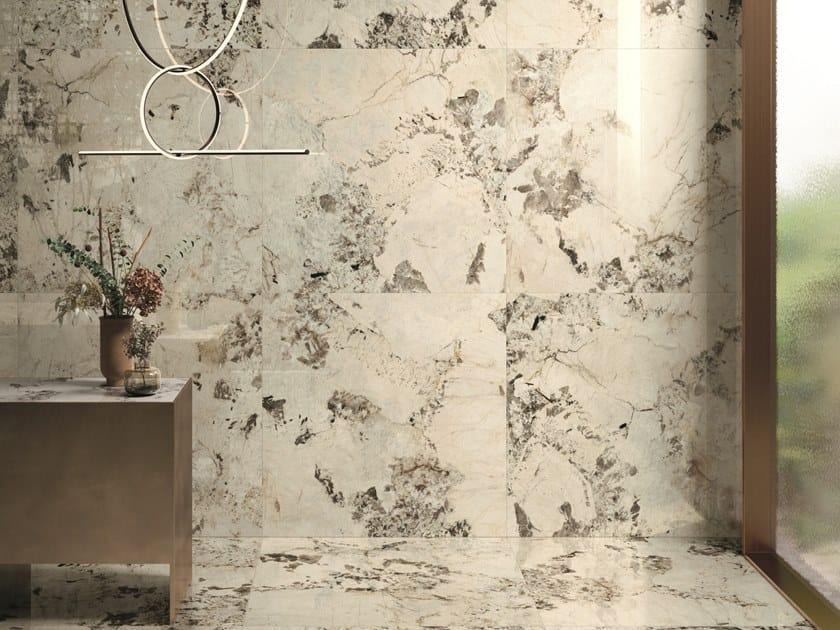Pavimento/rivestimento in gres porcellanato effetto marmo 9CENTO RIFLESSO BIANCO by CERAMICHE KEOPE