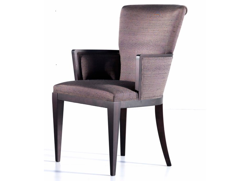 Upholstered fabric chair with armrests A 1248 | Chair by Annibale Colombo