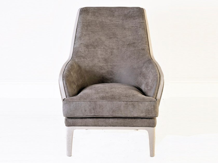 Upholstered high-back fabric armchair A 1499 | Armchair by Annibale Colombo