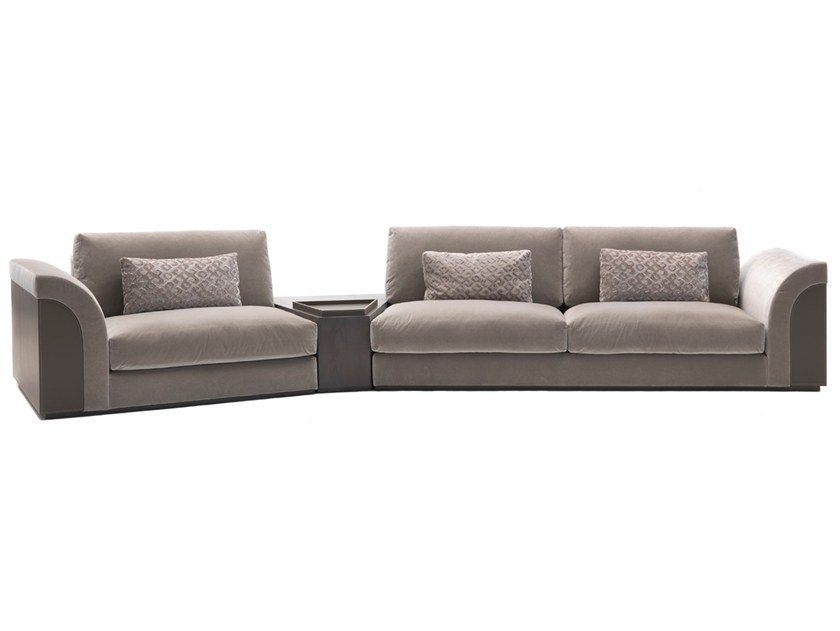 Sectional fabric sofa with storage space A 1634 | Sofa by Annibale Colombo