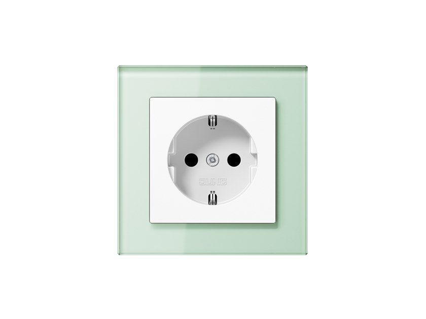 Glass electrical outlet A CREATION | Electrical outlet by JUNG