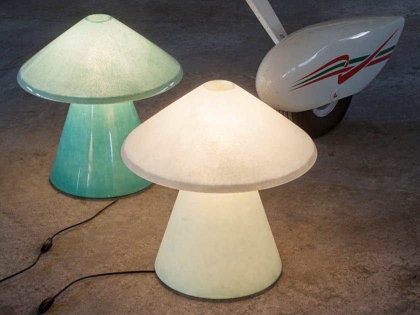 Fiberglass table lamp A.D.A. by Tacchini Edizioni