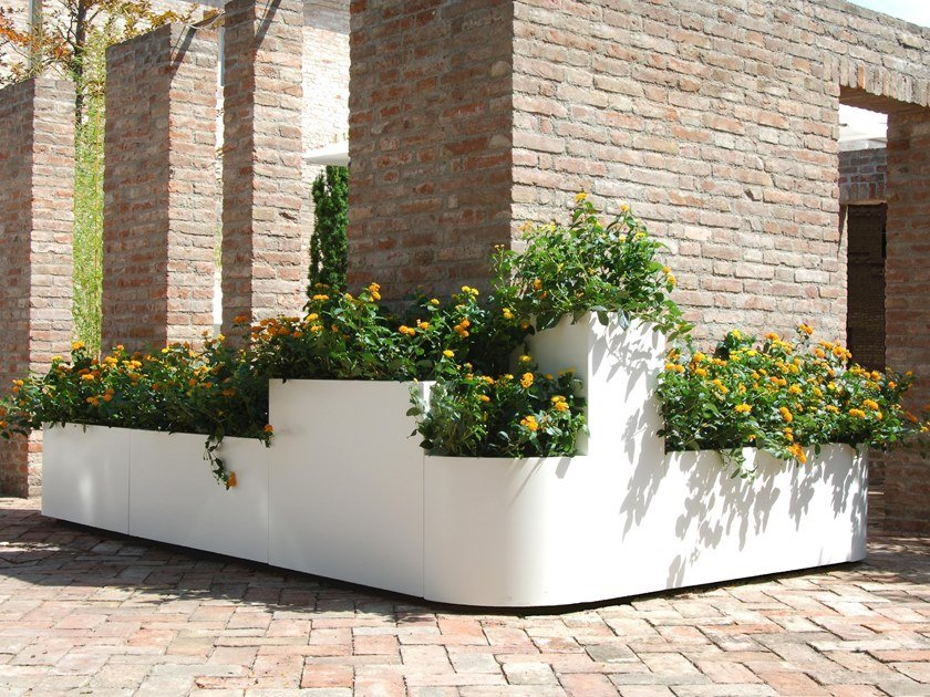 Modular stainless steel planter A | Modular planter by BLOSS