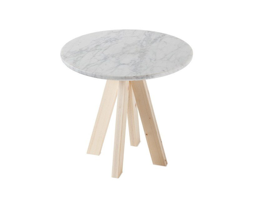 Round Carrara marble coffee table A.NGELO | Marble coffee table by Atipico