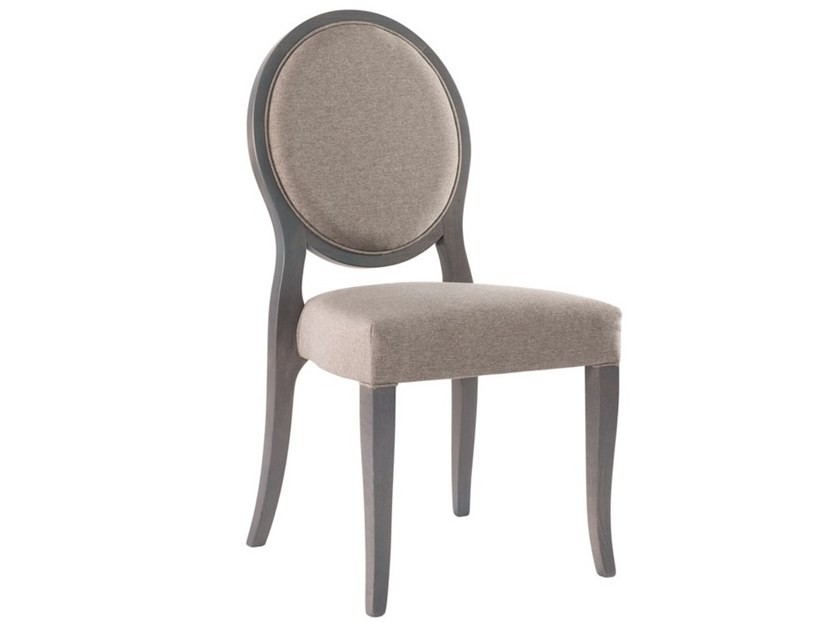 Upholstered stackable fabric chair A-ROUND SE01 by New Life
