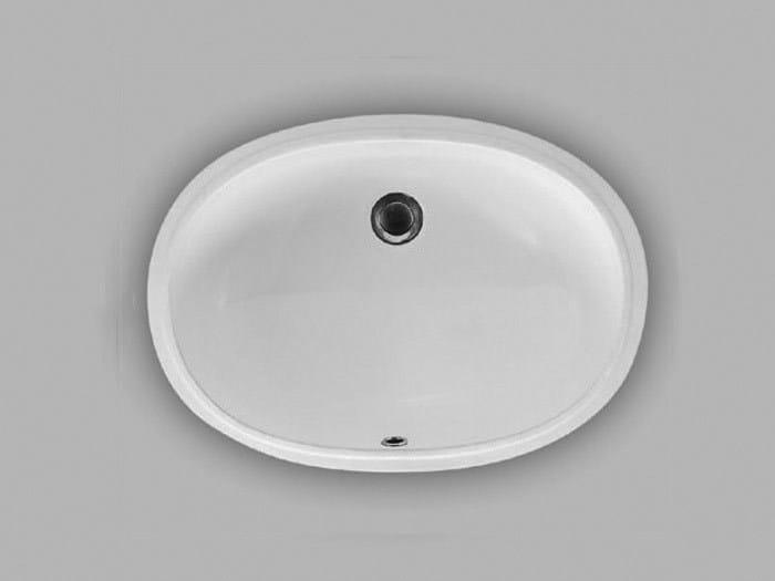 Undermount ceramic washbasin A104 | Undermount washbasin by Hidra Ceramica