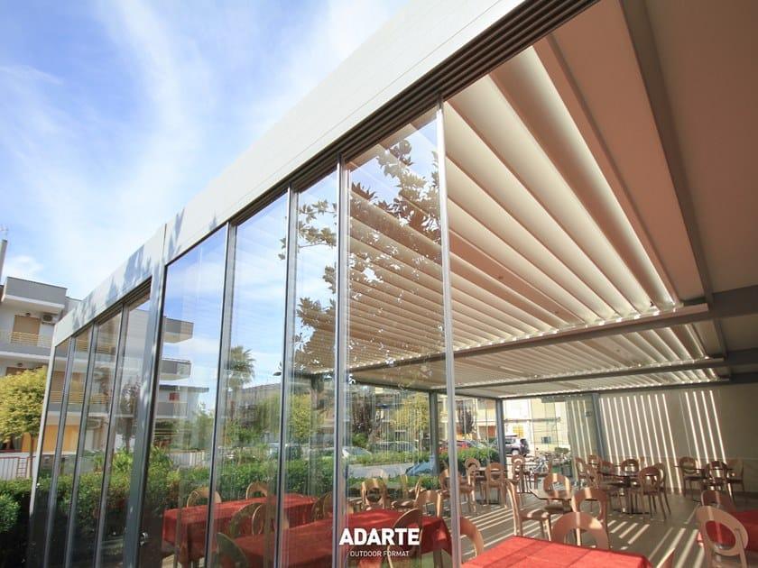 Vetrata scorrevole in alluminio e vetro A1703 VYSTA-S by ADARTE