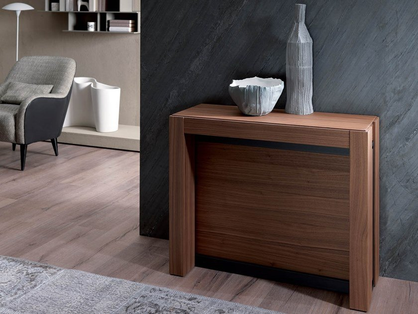 Extending wooden console table A4 by Ozzio Italia