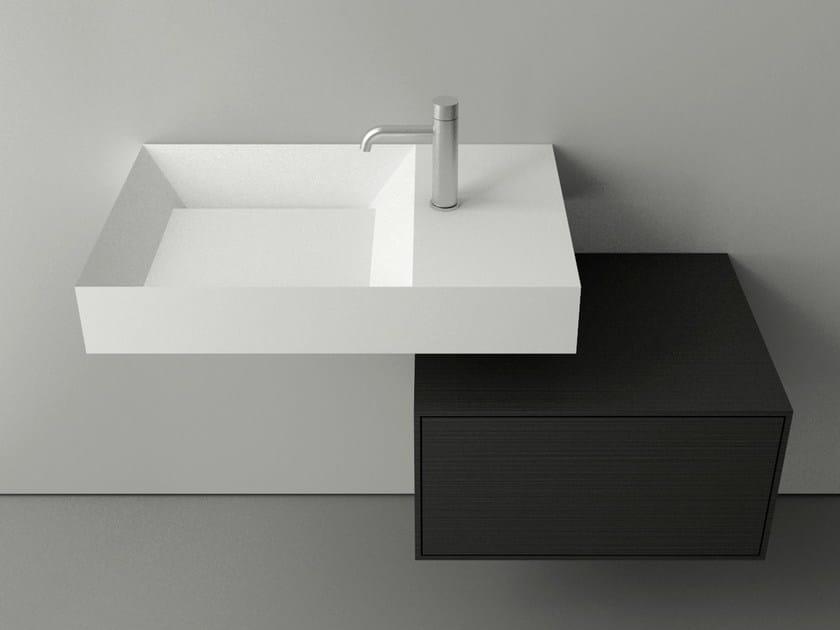 Rectangular single Cristalplant® washbasin A45 COMPACT by Boffi