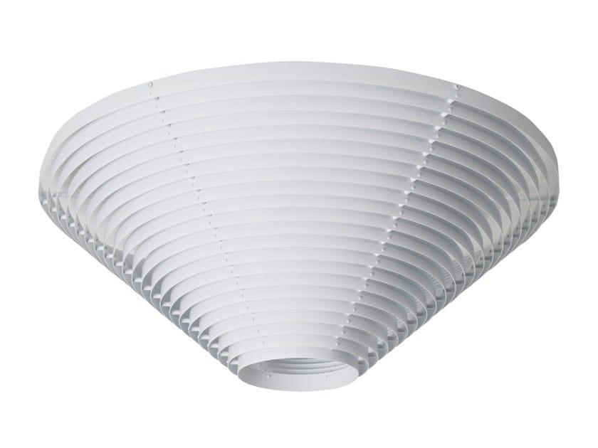 Lampada da soffitto fluorescente in acciaio A622 | Lampada da soffitto by Artek
