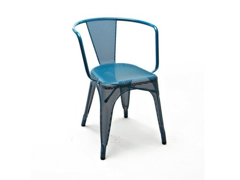 Wire mesh chair with armrests A97 | Wire mesh chair by Tolix