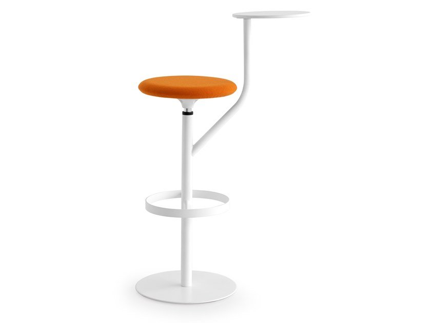 Stool with integrated table AARON by Lapalma