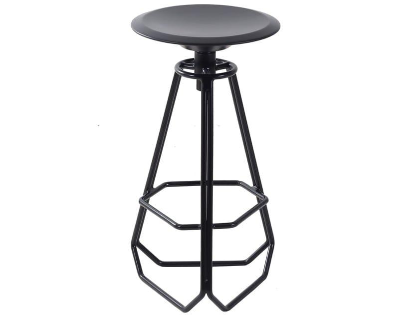 Swivel metal stool AAYAS by ALANKARAM