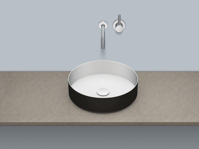 Lavabo soprapiano in acciaio vetrificato AB.KE400 by Alape
