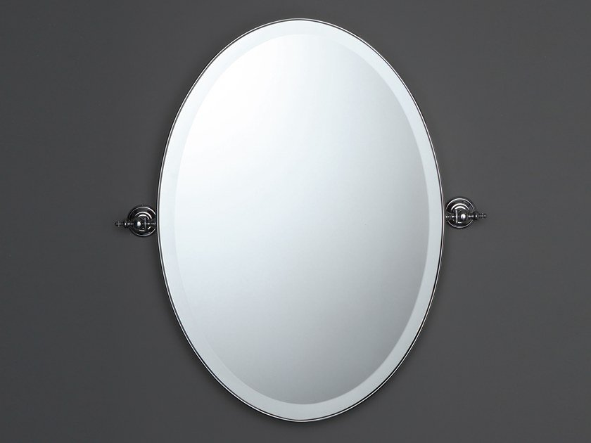 Wall-mounted tilting oval mirror AB209M | Framed mirror by BLEU PROVENCE