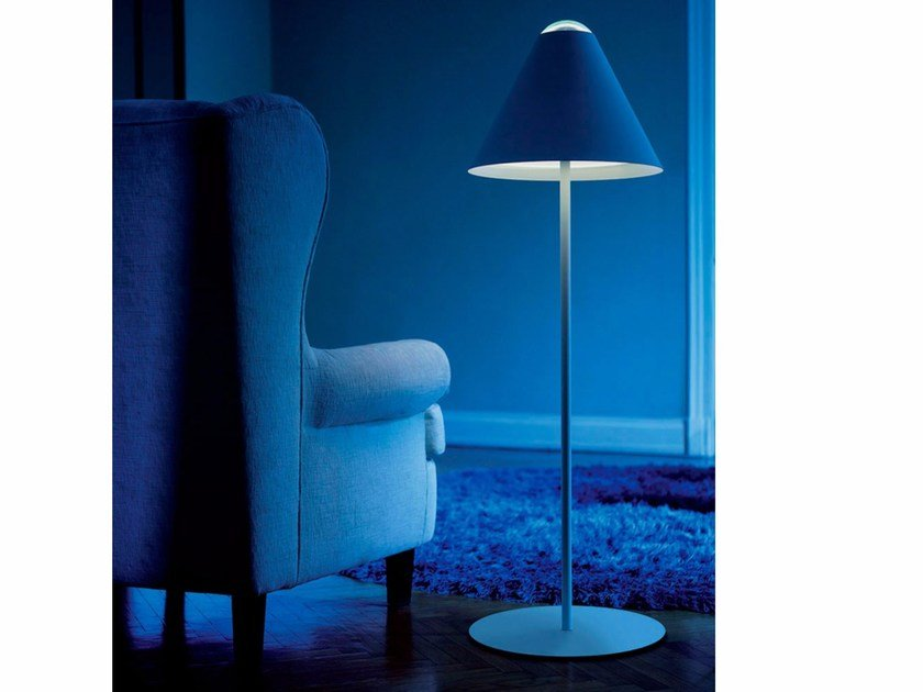 Methacrylate and metal floor lamp with dimmer ABA 120 by DAVIDE GROPPI