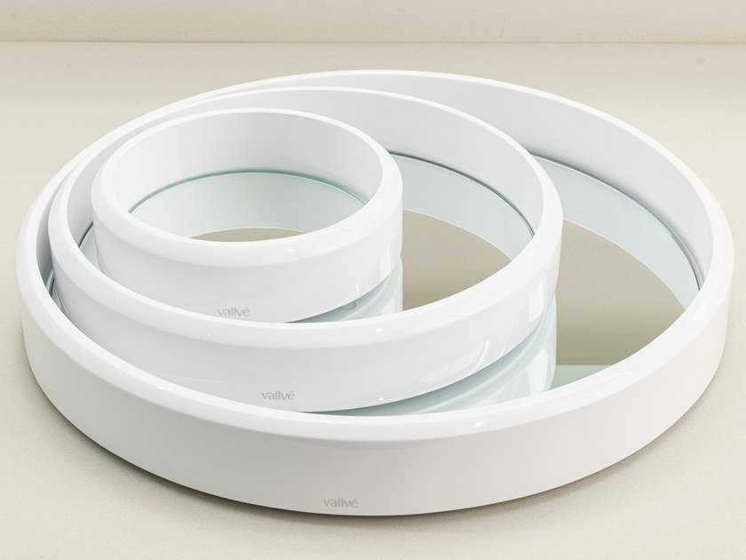 Vassoio rotondo in resina con specchio ABA   Vassoio by Vallvé