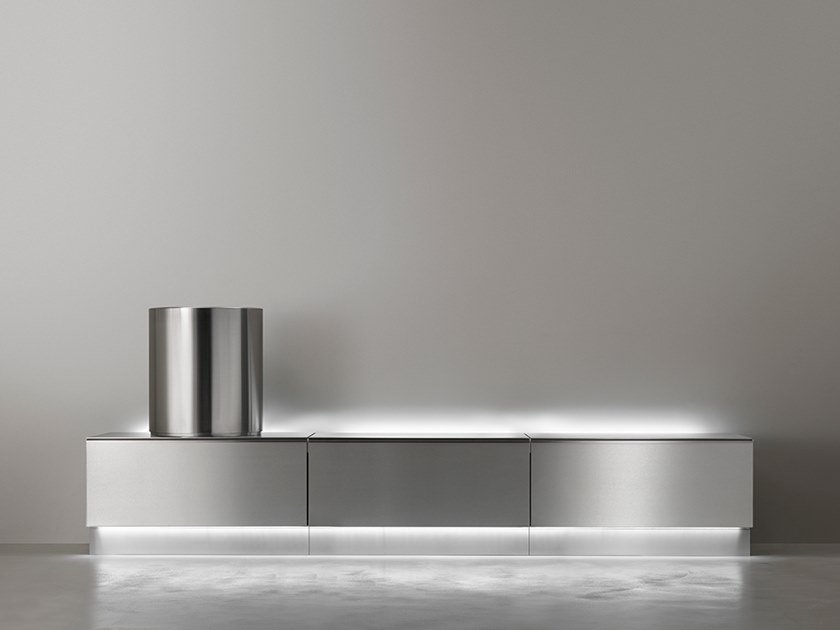 Modular bathroom system in stainless steel ABACO by Ceadesign