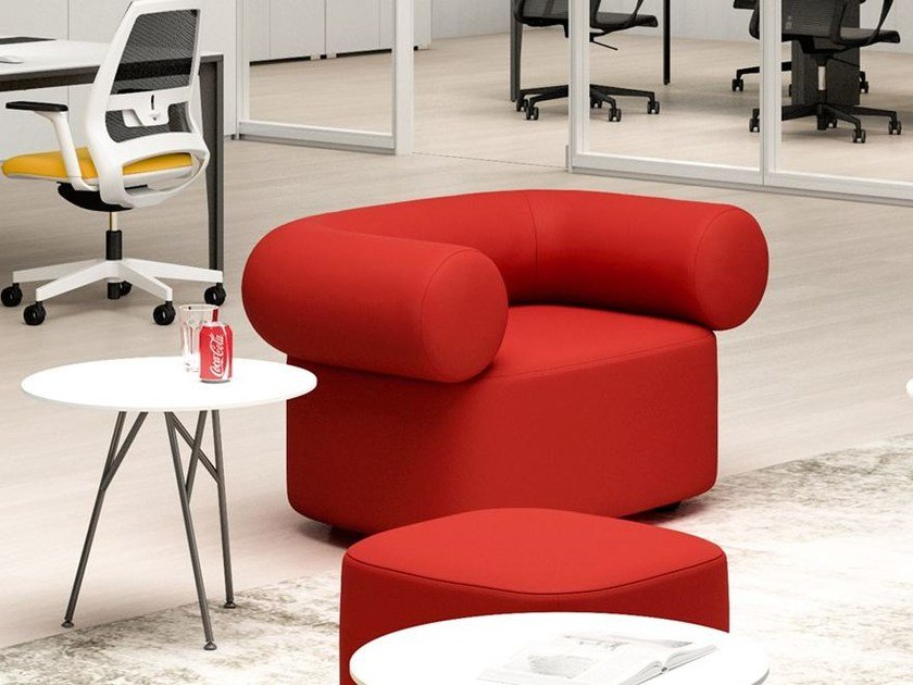 Fabric armchair with armrests ABBEY | Armchair by Quadrifoglio