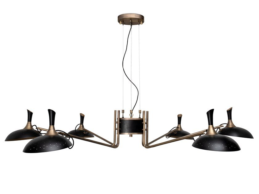 Aluminium and brass chandelier ABBEY | Chandelier by Delightfull