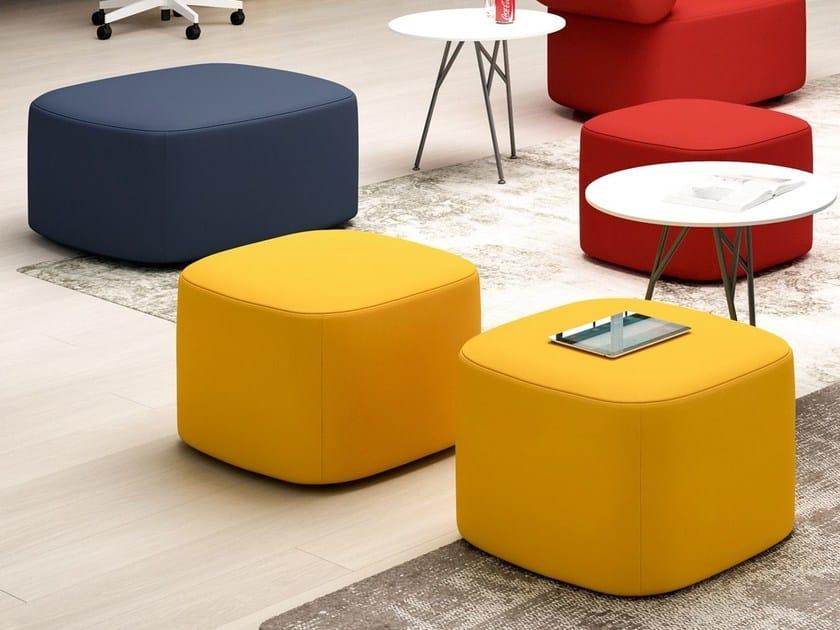 Square fabric pouf ABBEY | Pouf by Quadrifoglio
