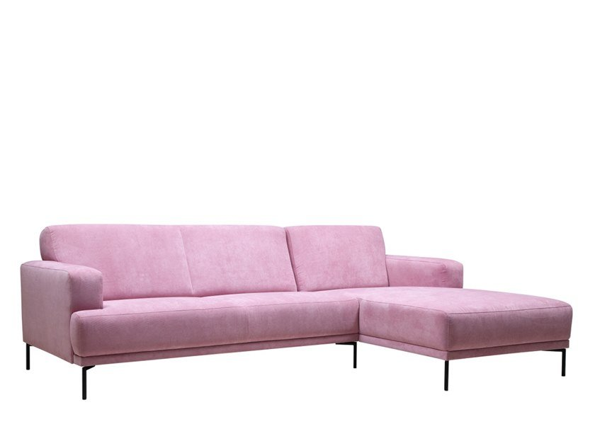 Fabric sofa with chaise longue ABBOTT | Sofa with chaise longue by SOFTREND