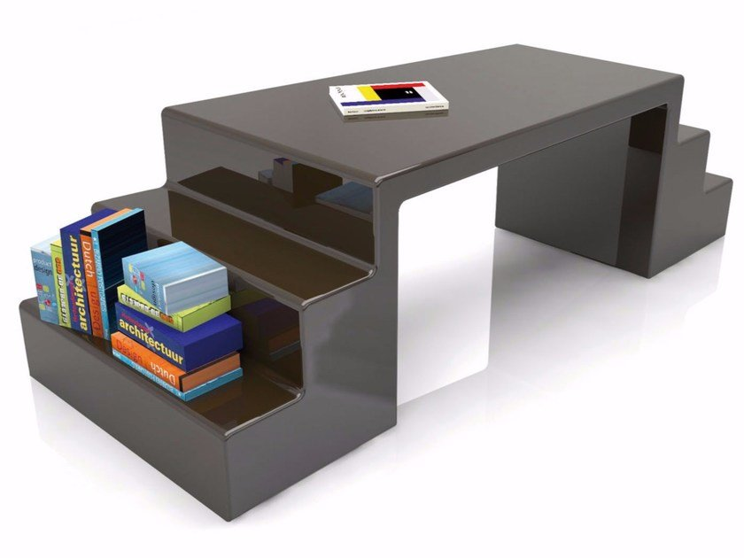 Lacquered Adamantx® workstation desk with shelves ABBOTT by ZAD ITALY