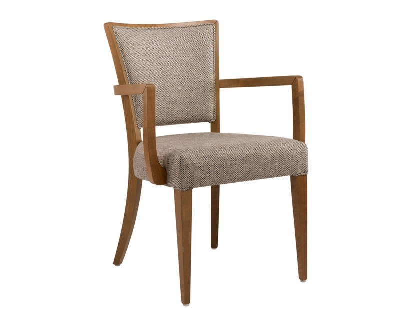 Upholstered fabric chair with armrests ABBY SOFT PO02 by New Life