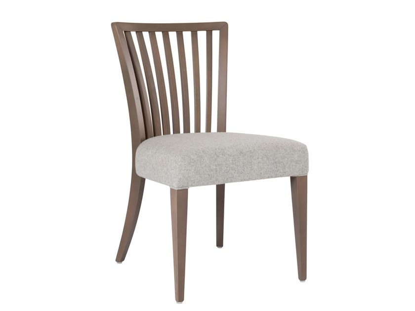 Upholstered fabric chair ABBY STRIPES SE03 by New Life