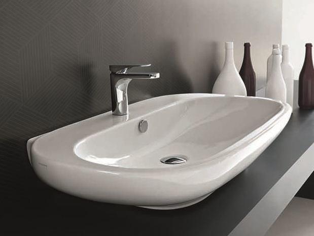 Countertop washbasin ABC | Ceramic washbasin by Hidra Ceramica