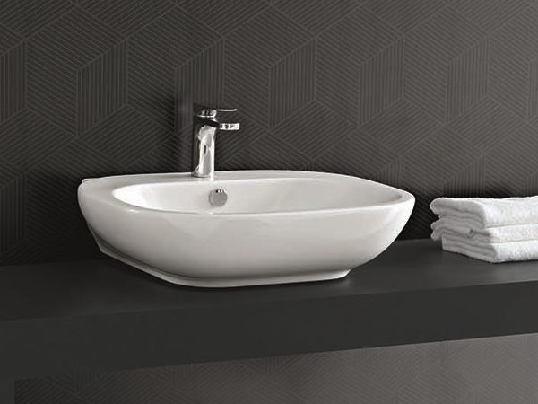 Single washbasin ABC | Countertop washbasin by Hidra Ceramica