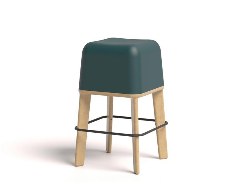 Ecological polyurethane high stool ABISKO 65 WOOD by Bõln