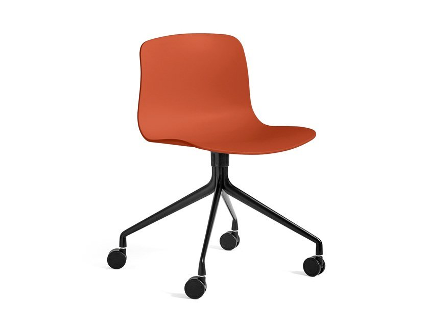 Polypropylene chair with castors ABOUT A CHAIR AAC 14 by Hay
