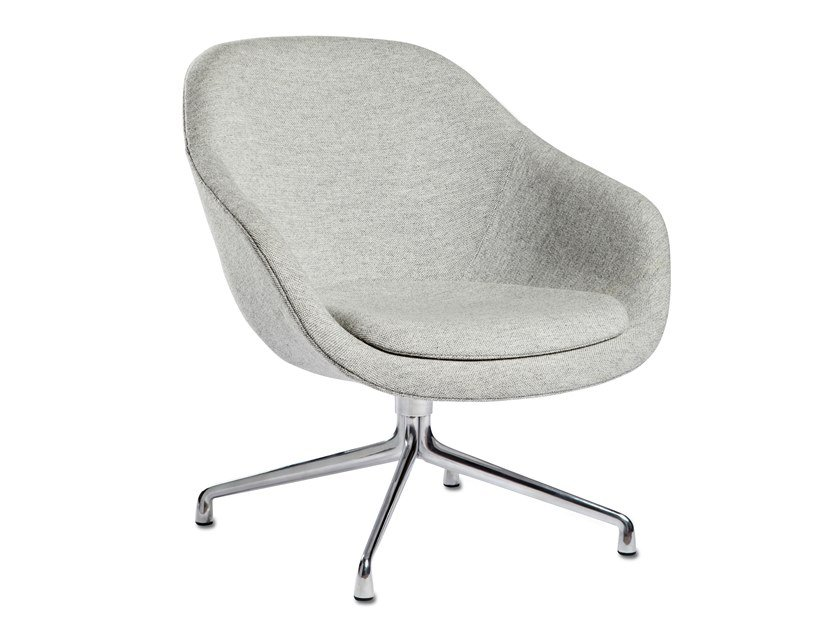 Swivel easy chair with armrests ABOUT A LOUNGE CHAIR AAL81 by Hay