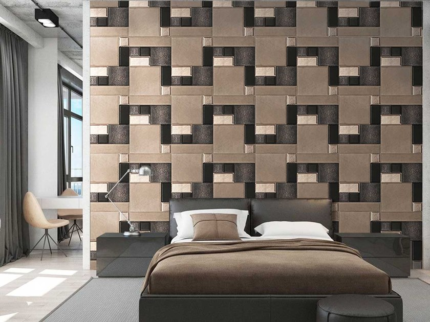 Indoor leather wall tiles ABSOLUTE by Miyabi casa