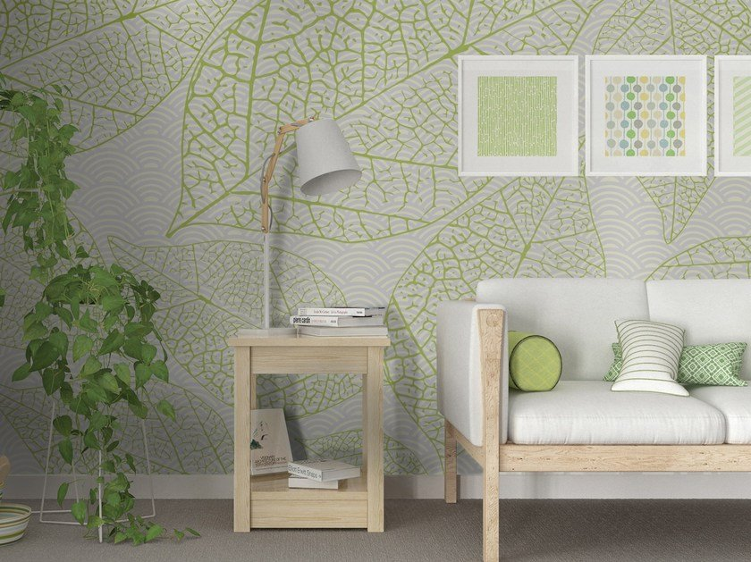 Motif adhesive washable wallpaper abstract leaves by wall lca