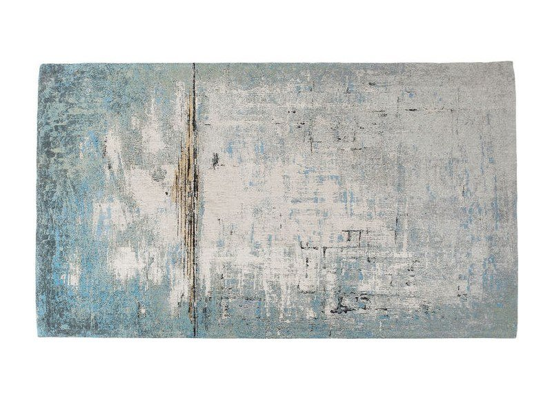 Rectangular cotton rug ABSTRACT LIGHT BLUE | Rug by KARE-DESIGN