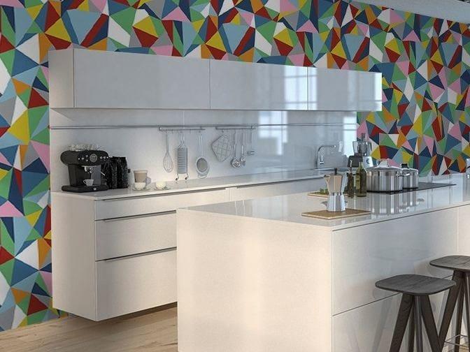Motif optical vinyl wallpaper ABSTRACTION by GLAMORA
